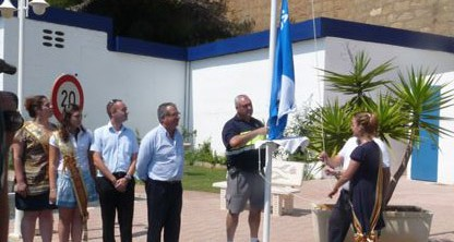 El Club Náutico de Oropesa revalida un año más su bandera azul que reconoce su calidad medio ambiental