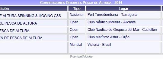 Bases del XV Campeonato de España Open de Pesca de Altura