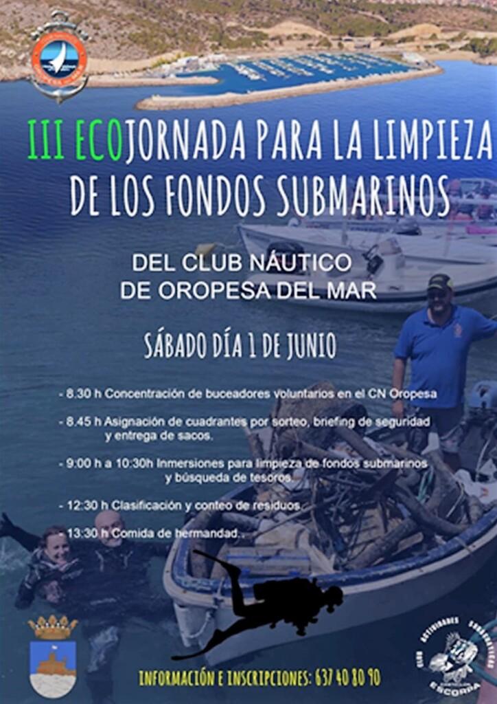 3ECOJORNADA 724x1024 - III Ecojornada para la limpieza de los fondos submarinos.