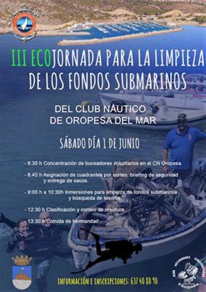 III Ecojornada para la limpieza de los fondos submarinos.