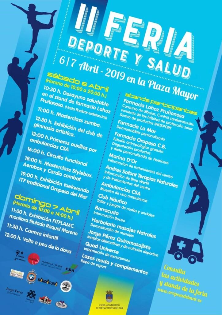 Cartel IIFeria deporte salud 2019 1 1200x1697 724x1024 - II Feria de deporte y salud