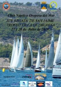 cartel XIX Regata de San Jaime 212x300 - XIX REGATA SAN JAIME. Trofeo VILLA DE OROPESA.