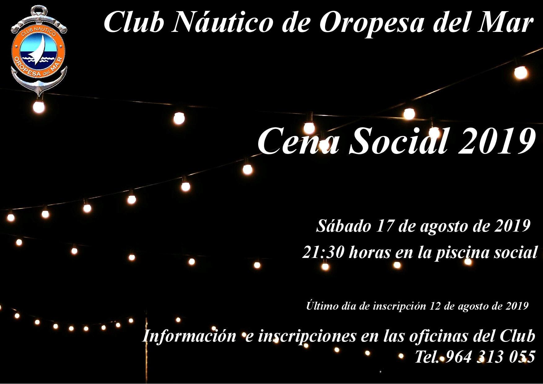 cartel cena social 2019 - Cena social 2019 CNOM