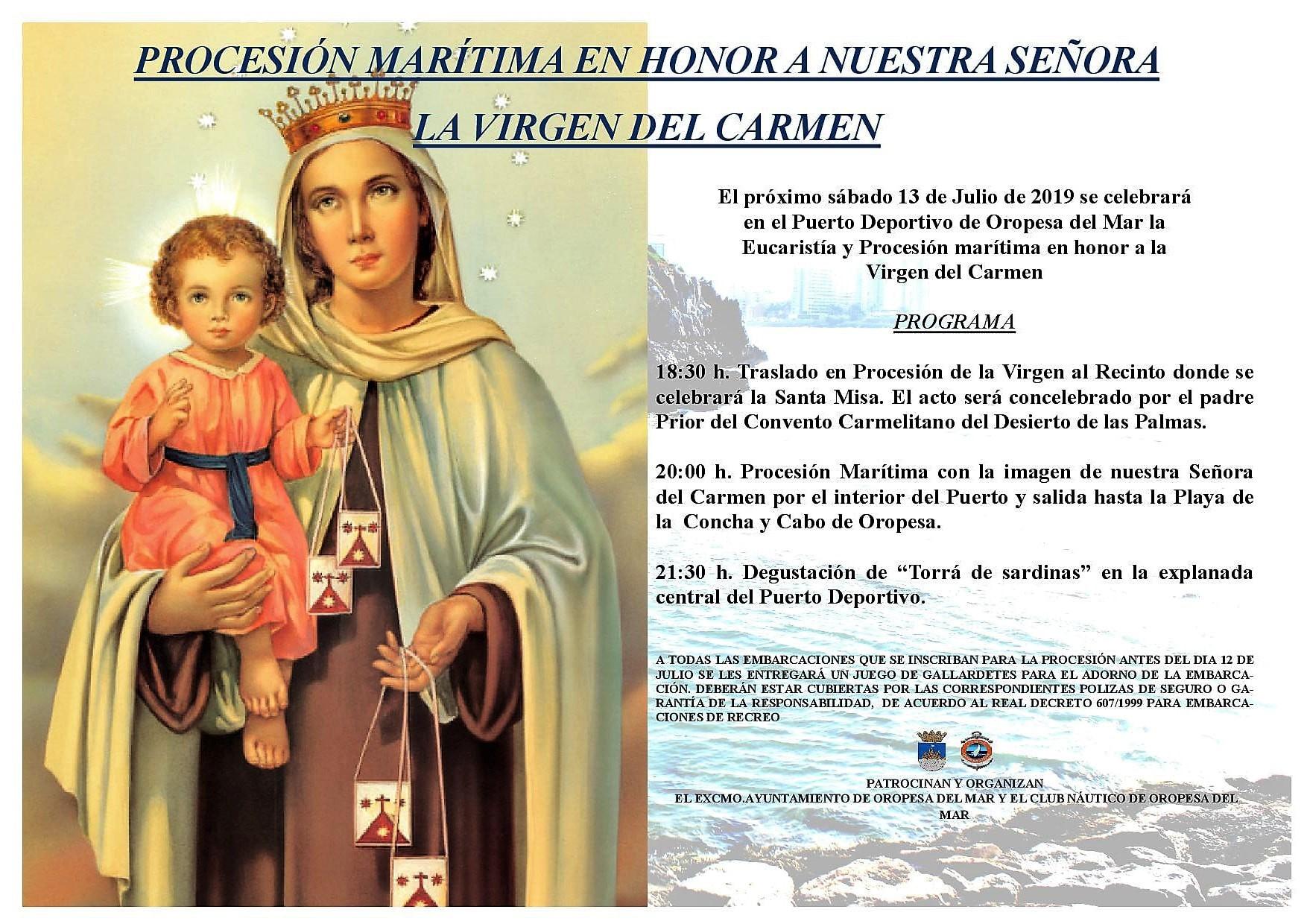 procesion 20191 - PROCESIÓN MARÍTIMA VIRGEN DEL CARMEN.