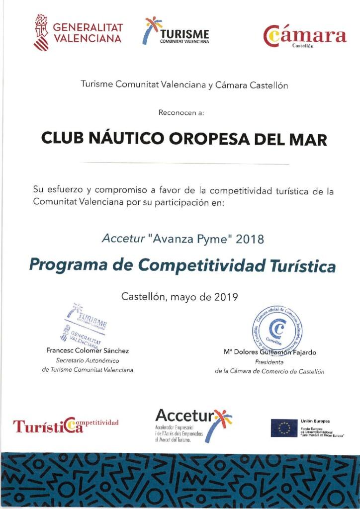 CAMARA COMERCIO COMPETITIVIDAD TURÍSTICA CS 724x1024 - Competitividad Turística del Club Náutico de Oropesa