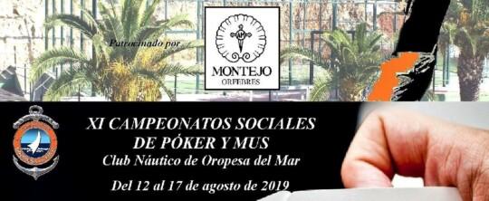 Concursos sociales de Pádel y de Póker y Mus 2019