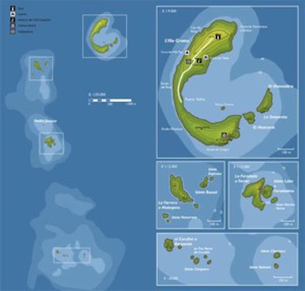 mapa islas op - Columbretes