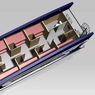 barco escuela habitaciones