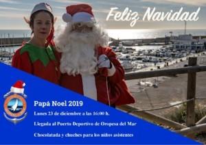 papa noel 2019 300x212 - Papá Noel llega el lunes 23 de diciembre al Puerto Deportivo de Oropesa del Mar