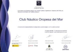 sicted 2020 300x211 - El Club Náutico Oropesa del Mar renueva su acreditación SICTED