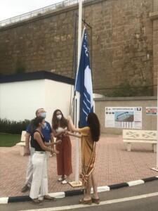 IMG 8639 225x300 - Acto de izado de la Bandera Azul en el puerto deportivo de Oropesa