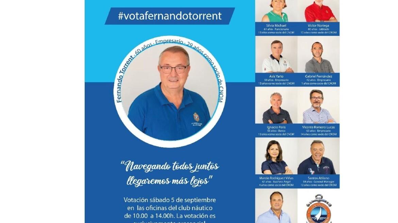 ELECCIONES CNOM 2020. CANDIDATURA DE D. FERNANDO TORRENT GUINOT