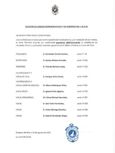 proclamacion torrent 370x493 - ELECCIONES CNOM 2020. CANDIDATURA DE D. FERNANDO TORRENT GUINOT