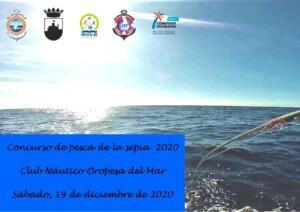 pescasepia2020 2 300x212 - Aplazado el concurso pesca sepia por mala prevision en el estado de la mar