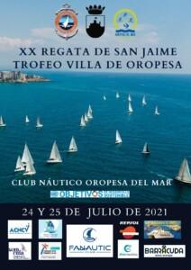 cartel san jaime 2021 OK 212x300 - XX Regata San Jaime. Trofeo Villa de Oropesa 2021