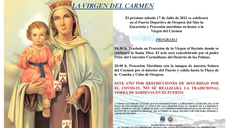Procesión marítima de la Virgen del Carmen