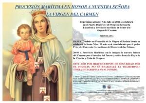 procesion 20211 1 300x212 - Procesión marítima de la Virgen del Carmen