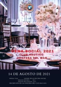 cartel CNOM cena social 212x300 - Cena Social 2021 CN Oropesa del Mar