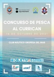 CARTEL CURRICAN 16.10.21 212x300 - Concurso de pesca currican de superficie